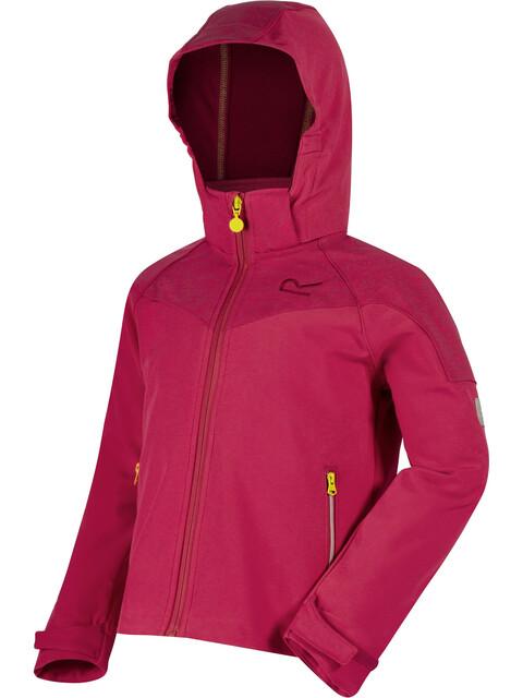 Regatta Acidity Softshell Jacket Kids Duchess/Duchess Reflective